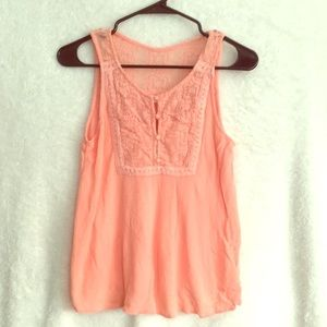 Choral Lacey tank top